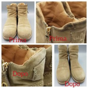 pulizia scarponi