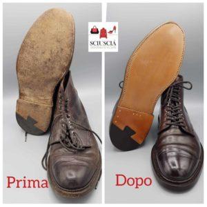 Nella foto  la sostituzione di una suola Goodyear - Servizio calzolaio a Padova